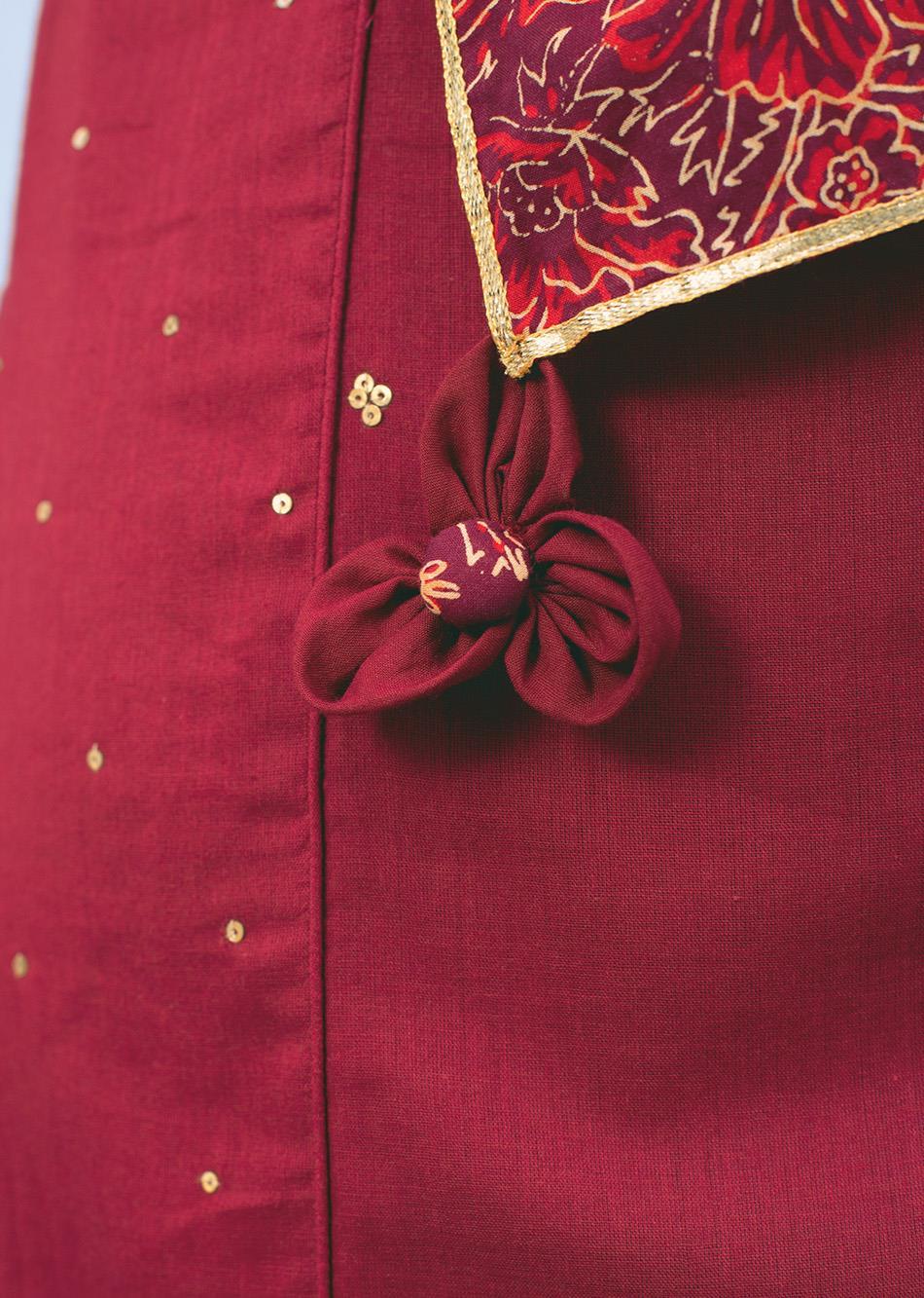 Gold printed beautiful Dupatta By Jovi Fashion
