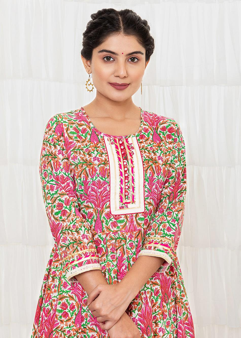 Off-White printed Anarkali Set By Jovi Fashion