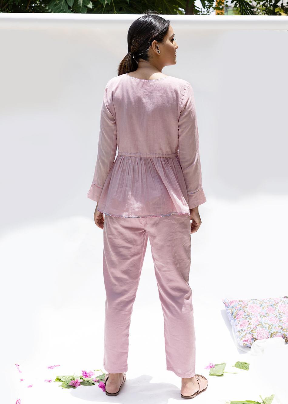 Gulabi gathered top and pant (set of 2) By Jovi Fashion