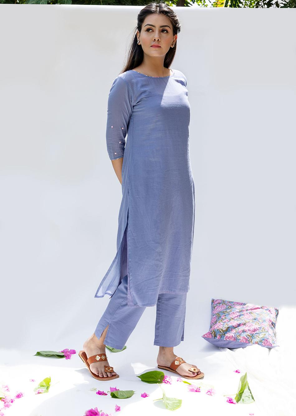 Baiguni Transy kurta and pants (set of 2) By Jovi Fashion