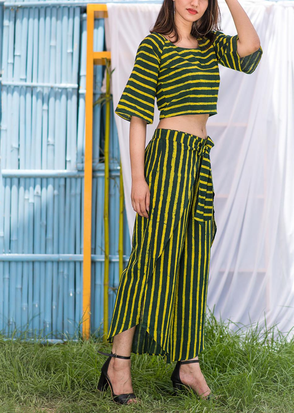Groovy Tie-Up (Striped Pants) By Jovi Fashion