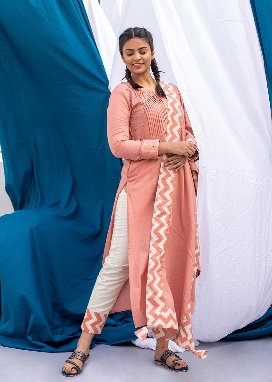 Salmon Dupatta By Jovi Fashion