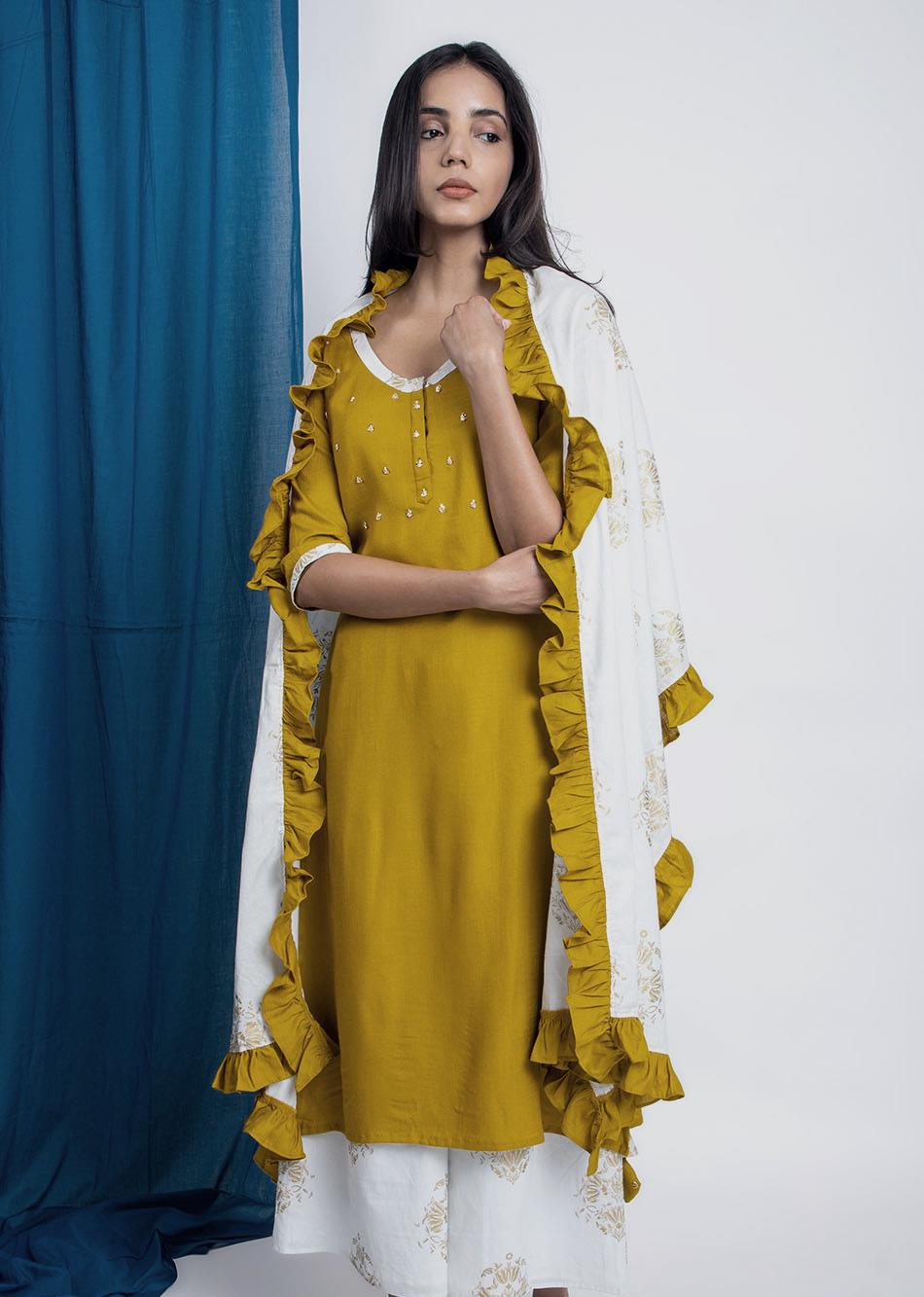 Layered Dupatta By Jovi Fashion
