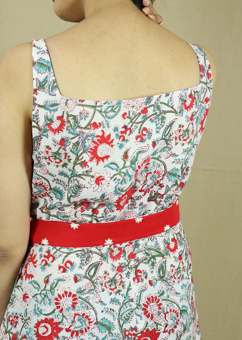 THE ARUSHA DRESS  (with Embroidered Belt)  By Jovi Fashion