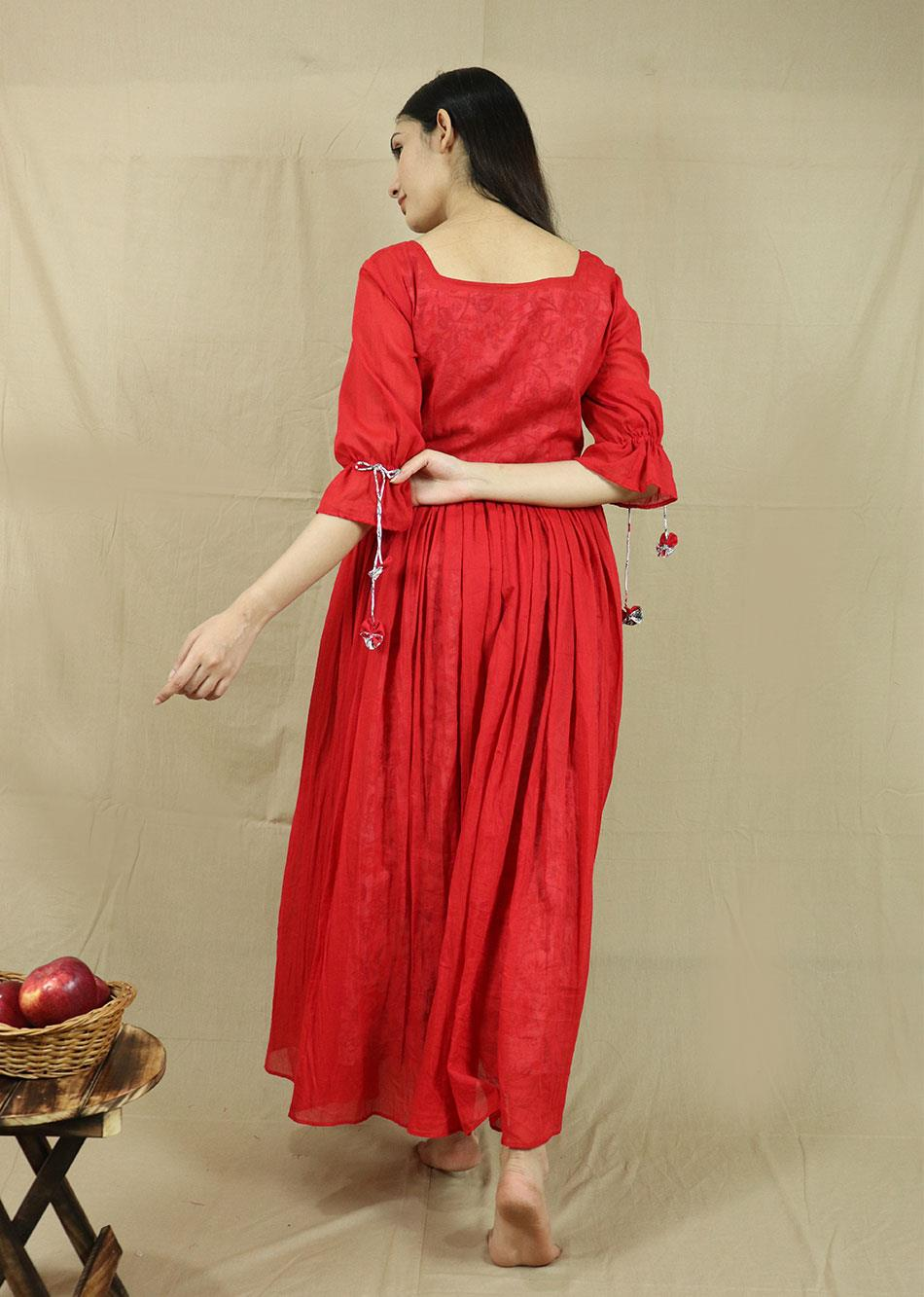 THE AUTUMN DRESS  (With Printed Inner) By Jovi Fashion