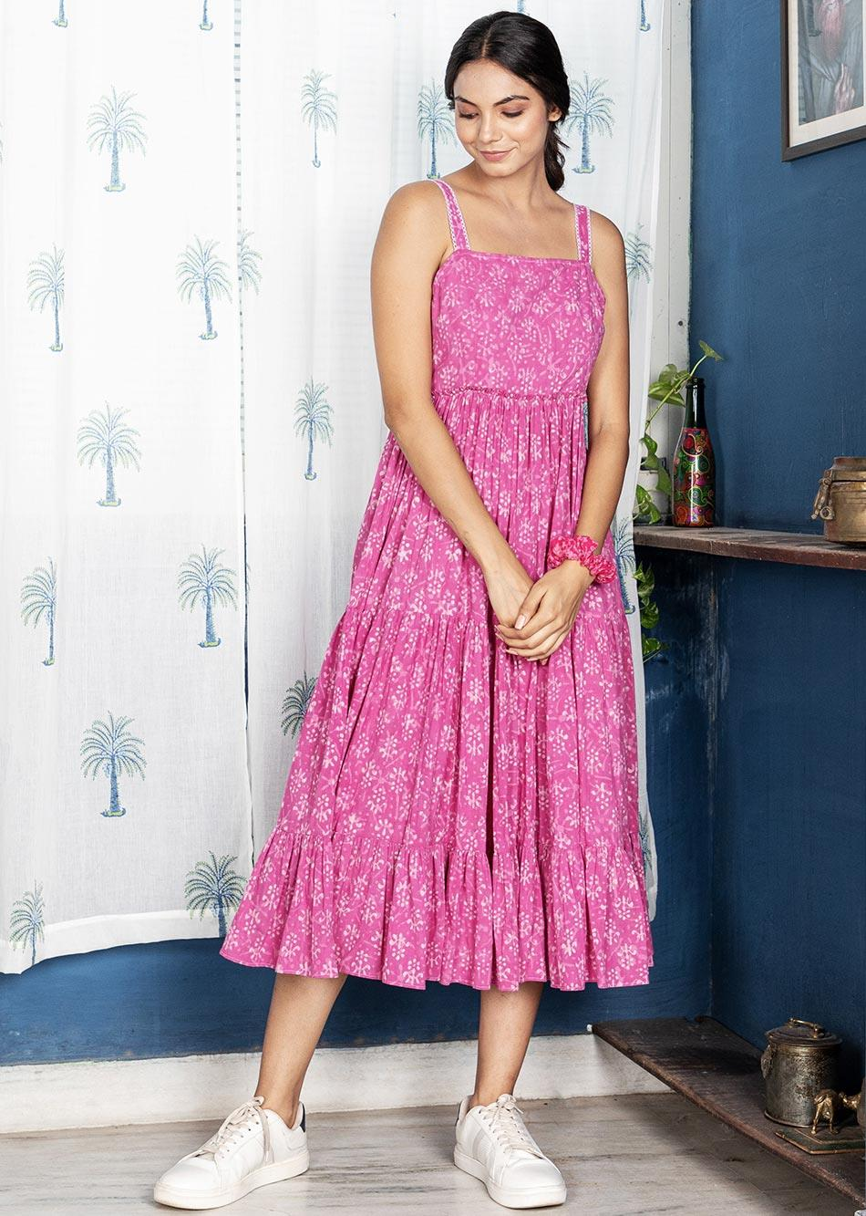 Poetry Pink Dress By Jovi Fashion