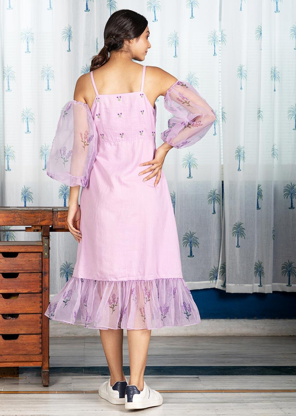 LUXE LILAC DRESS (WITH DETACHABLE SLEEVES) By Jovi Fashion