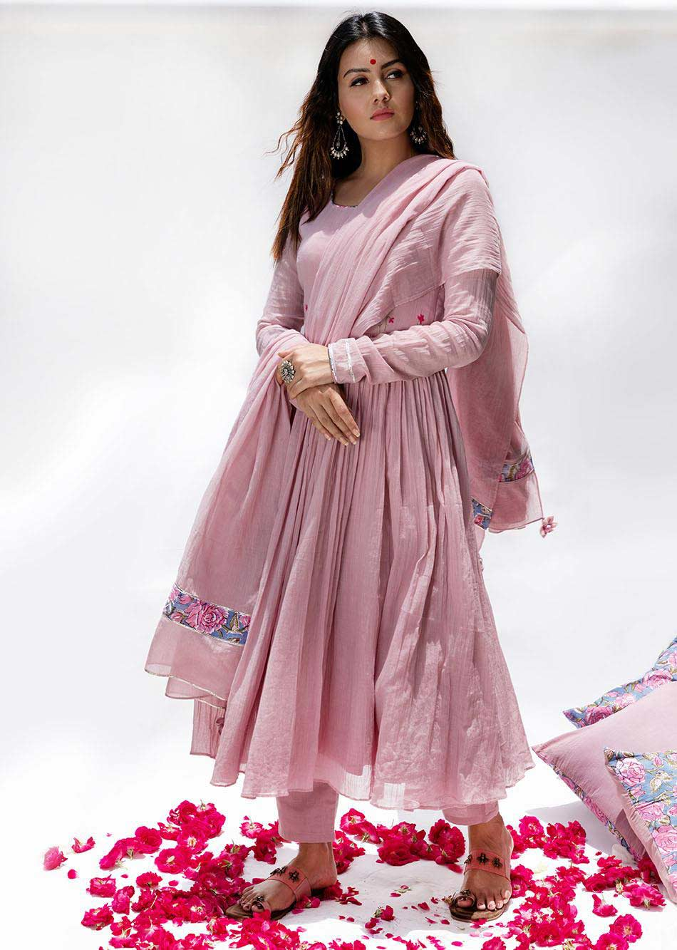 Gulabi- Anarkali (Set of 3) By Jovi Fashion