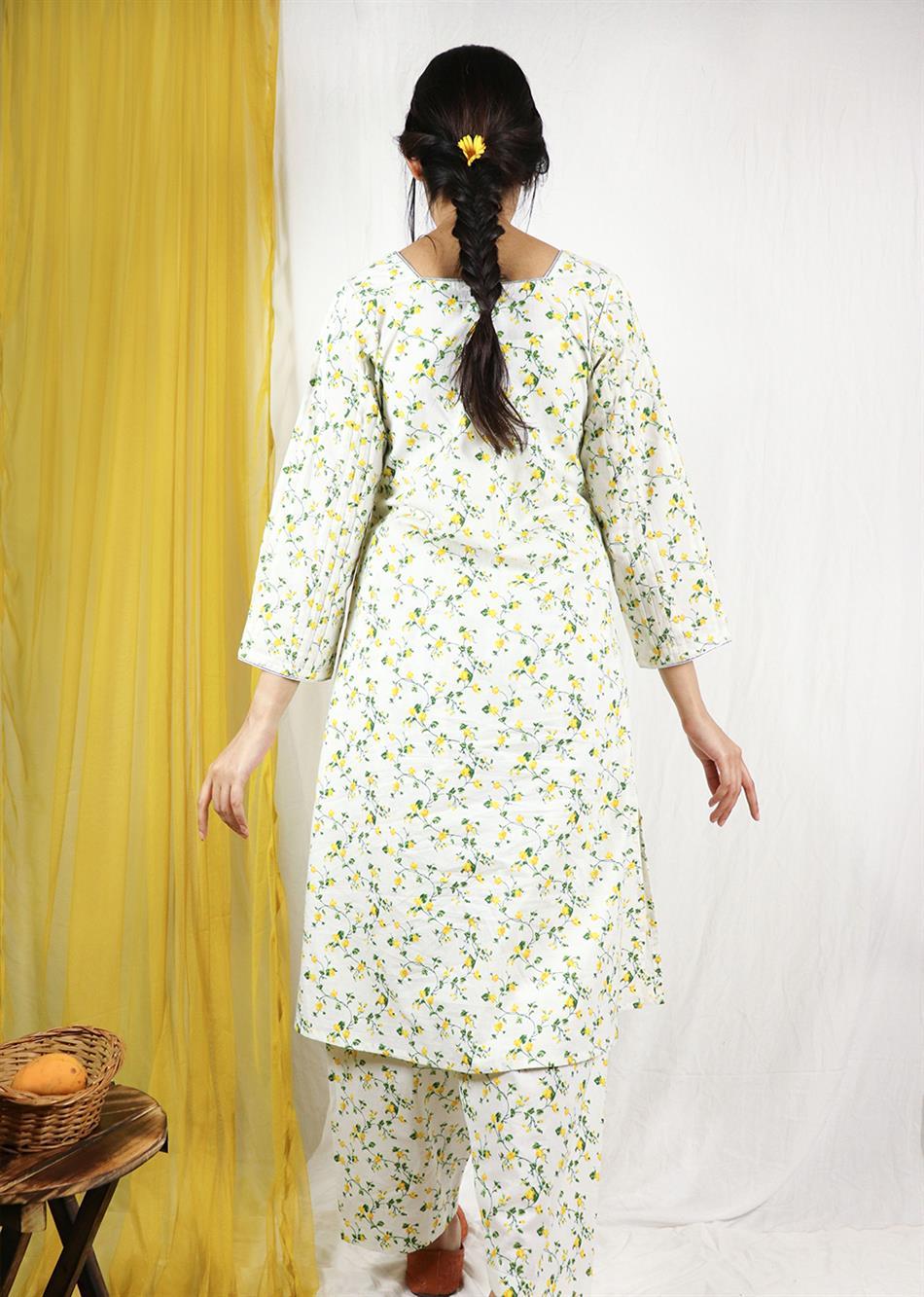 Basantah Short Kurta and Shalwar Set (Set of 2) By Jovi Fashion