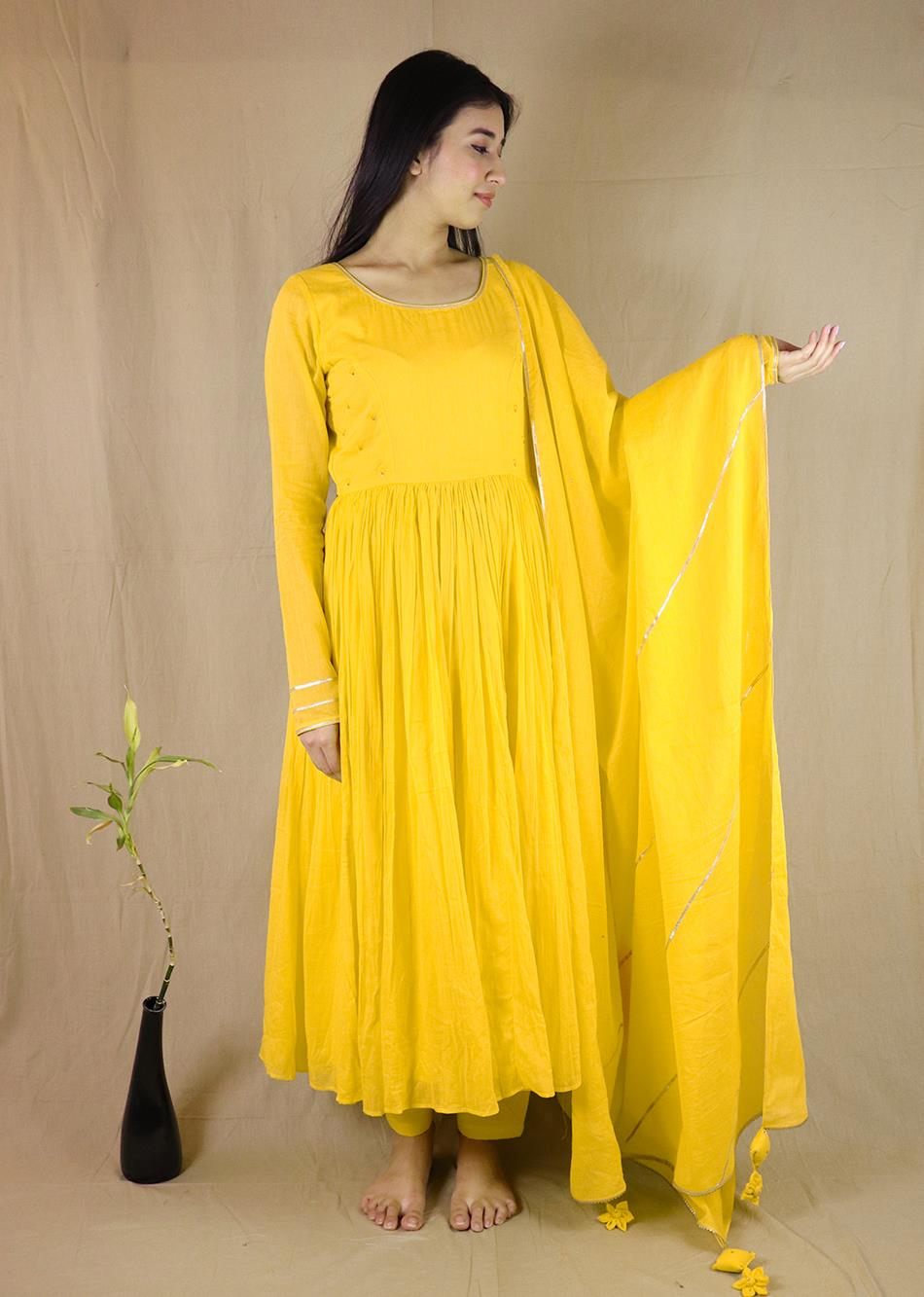 Sunheri Anarkali (set of 3) By Jovi Fashion