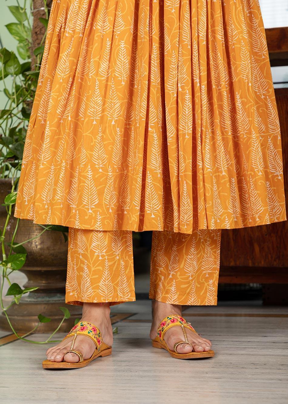 MOH Honey Gathered Anarkali Set (set of 3) By Jovi Fashion