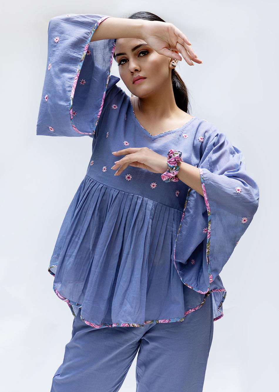Baiguni Loose pleated top By Jovi Fashion