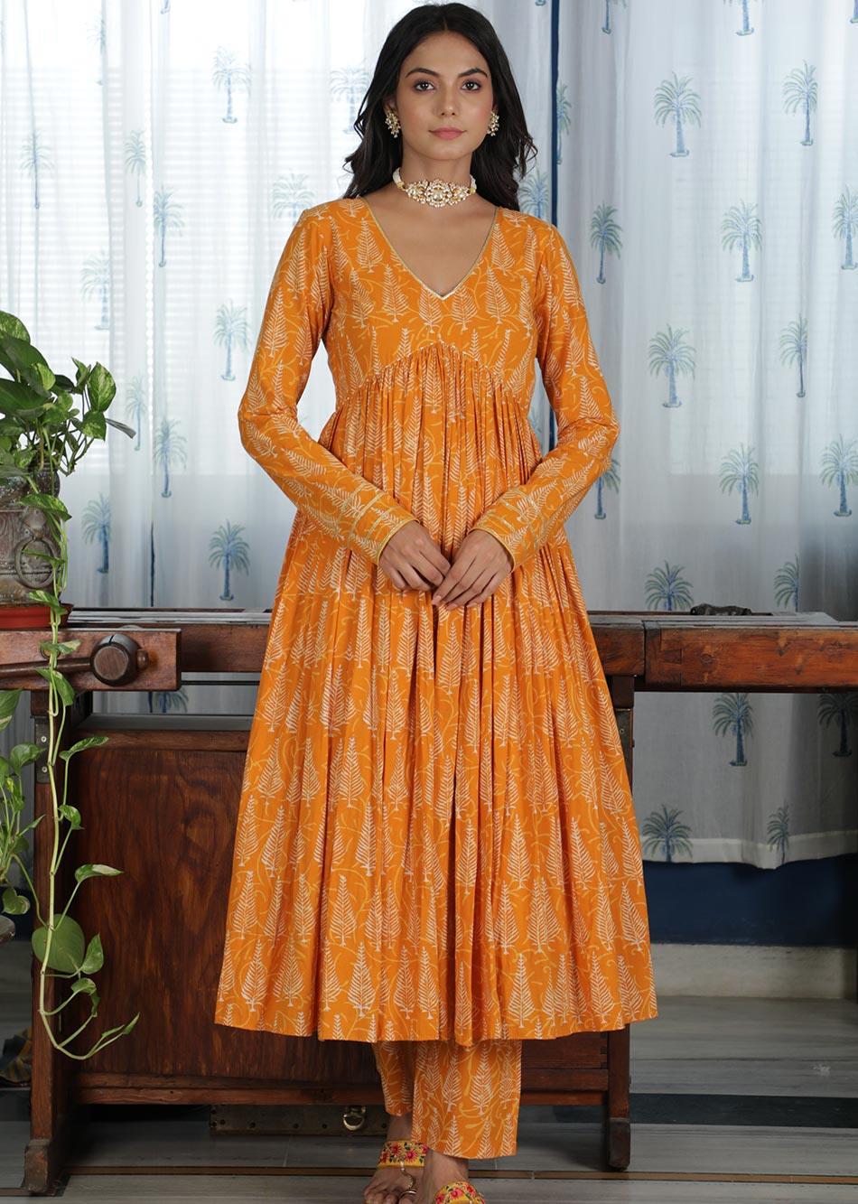 MOH Honey Gathered Anarkali Kurta (only kurta) By Jovi Fashion