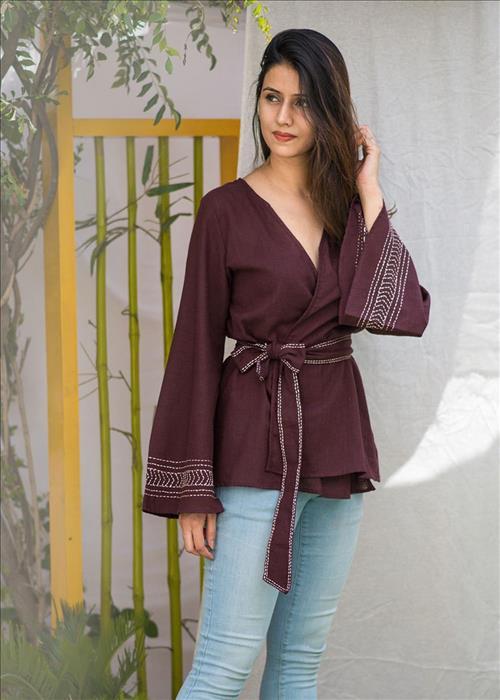 Glorious Block (kimono style top)