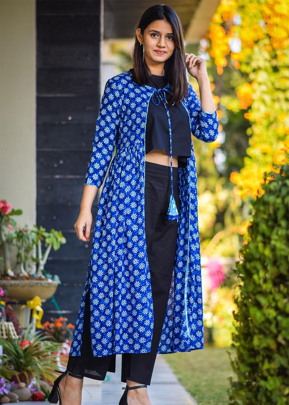 refined slits - egyptian blue By Jovi Fashion