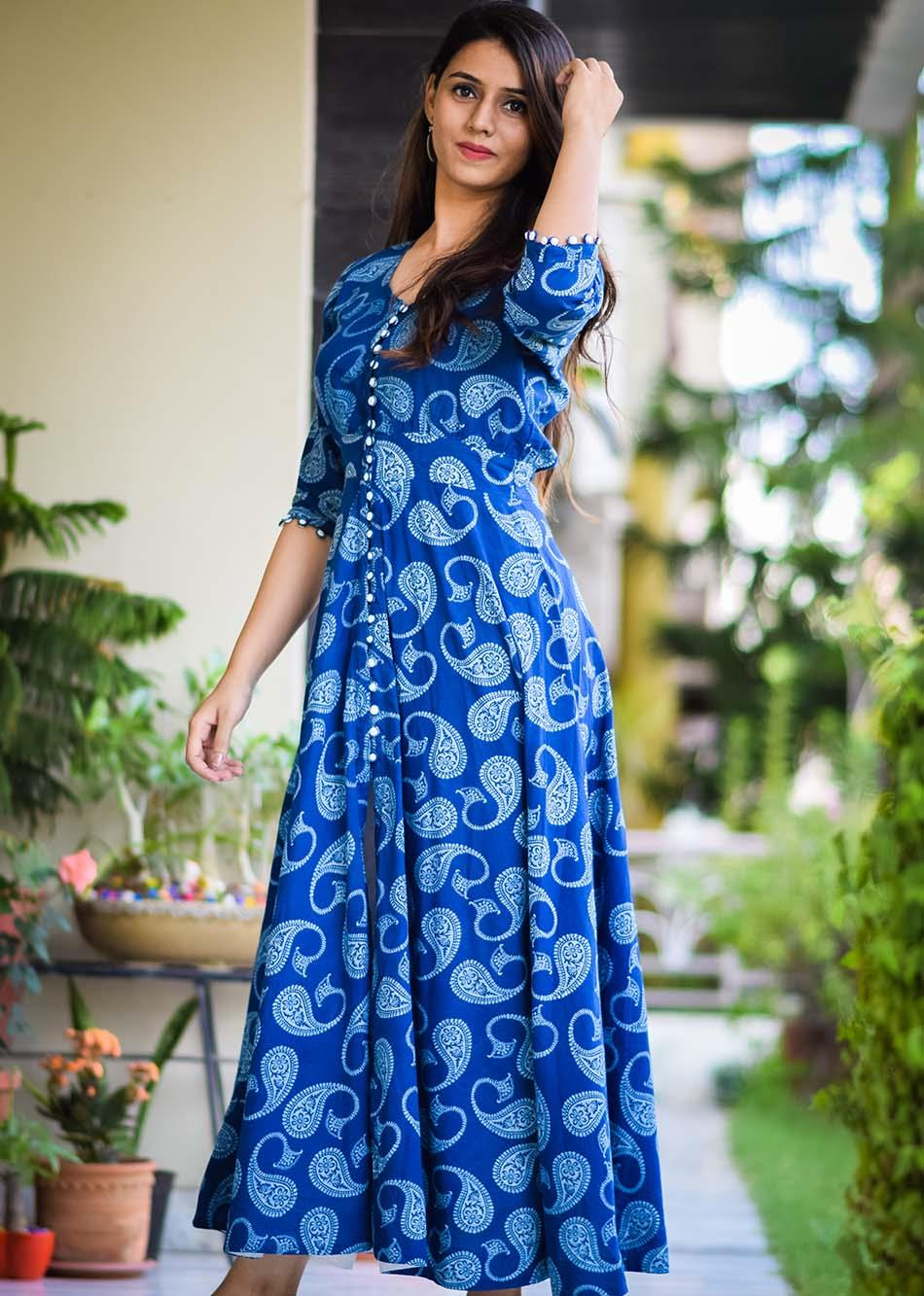 ecstatic day - royal blue and white By Jovi Fashion