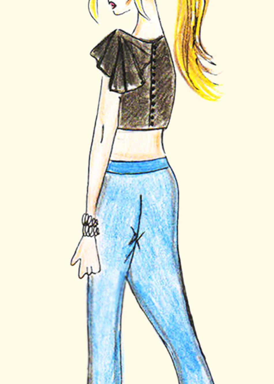 pleated turnup By Jovi Fashion