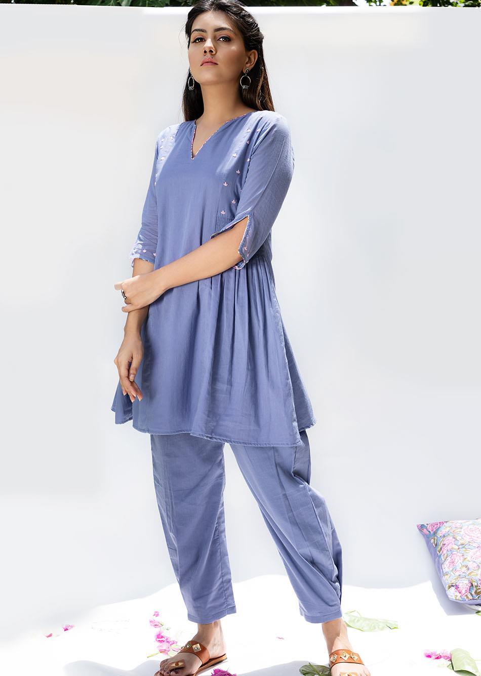 Baiguni short kurta and pant (set of 2) By Jovi Fashion