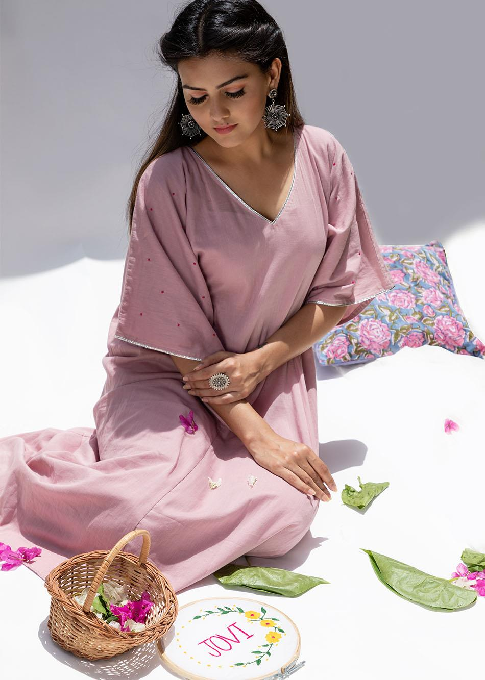 Gulabi- The kaftan style set By Jovi Fashion