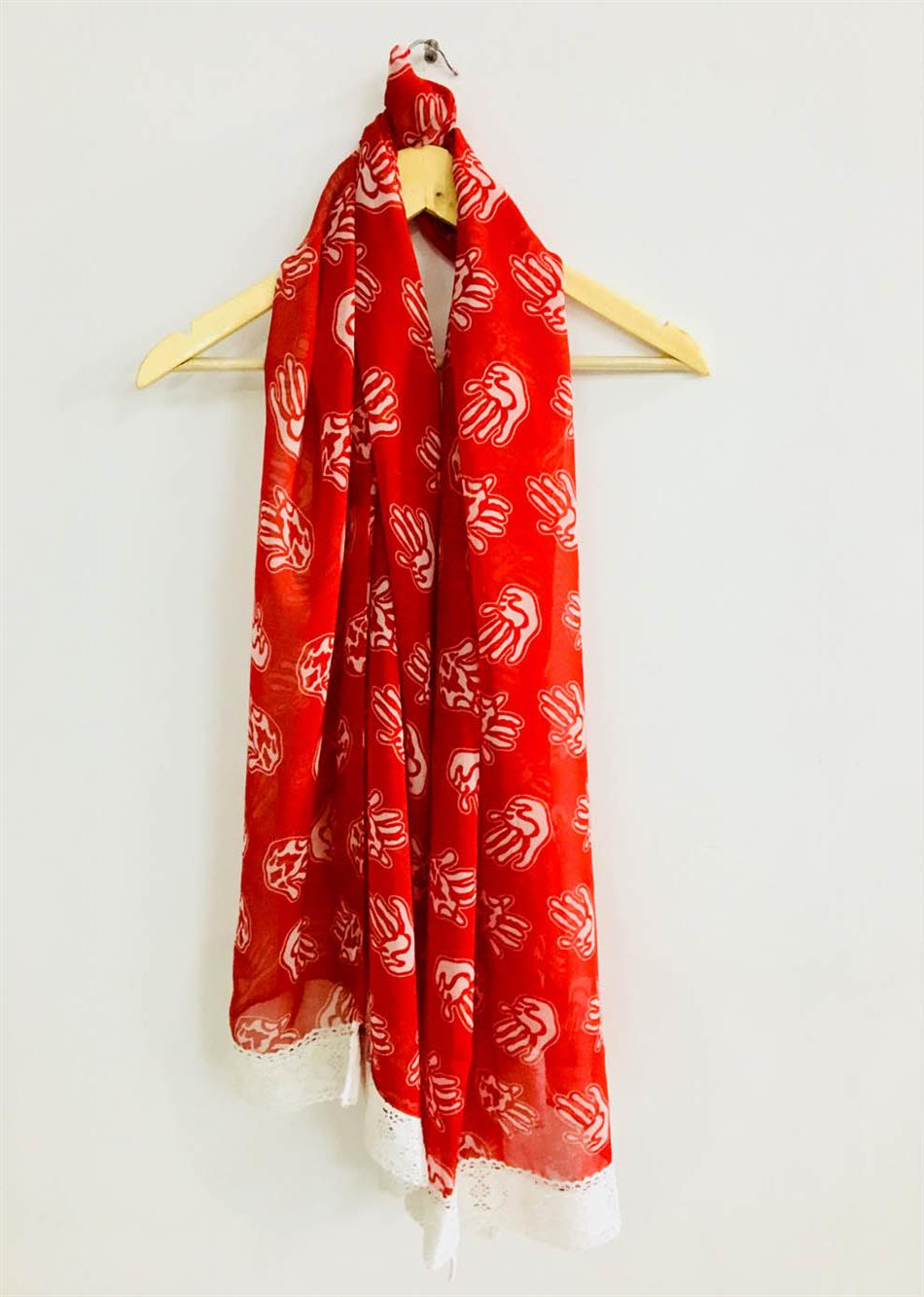scarf- hand print By Jovi Fashion