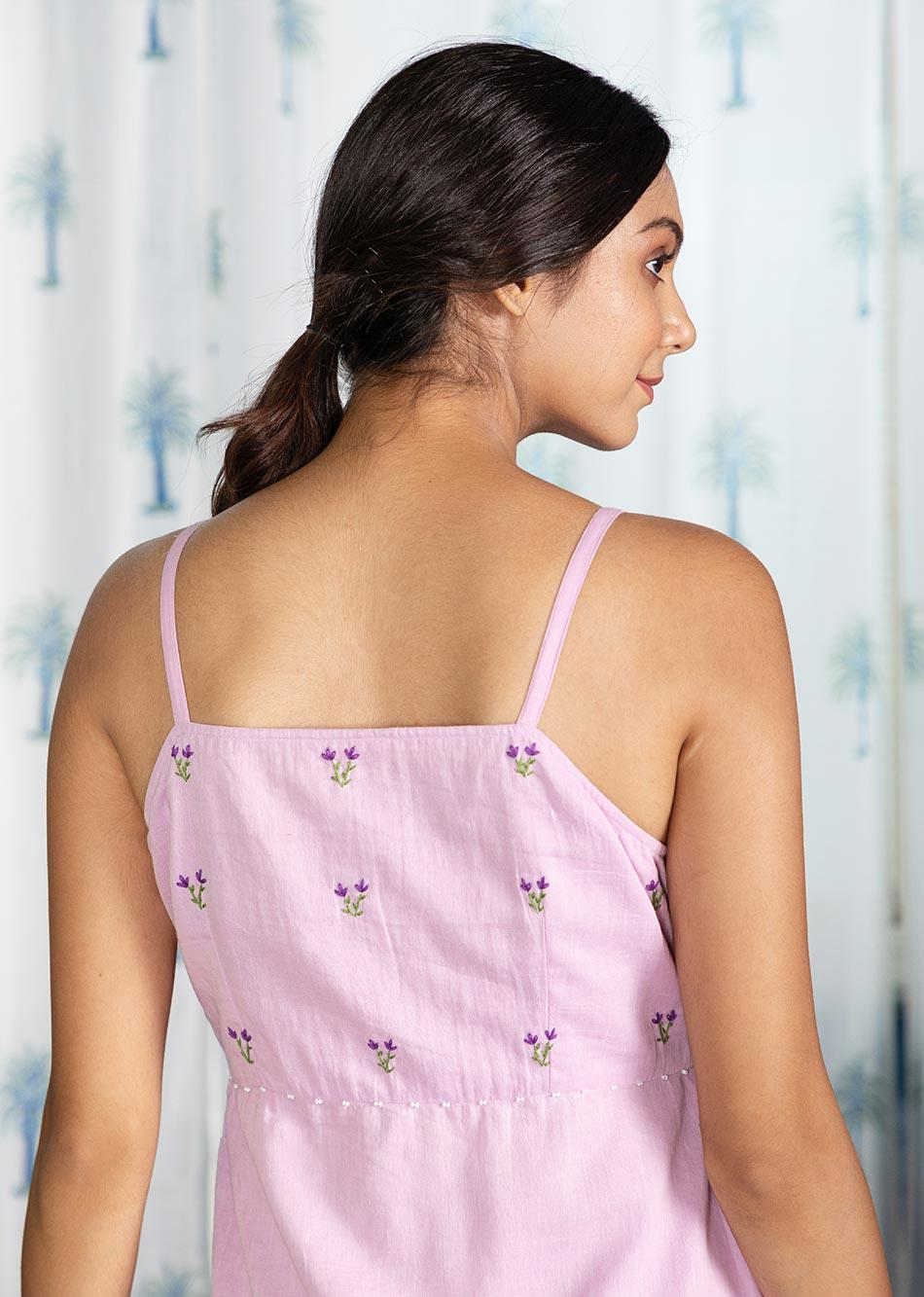 LOVE-THE-LILAC STRAPPY DRESS