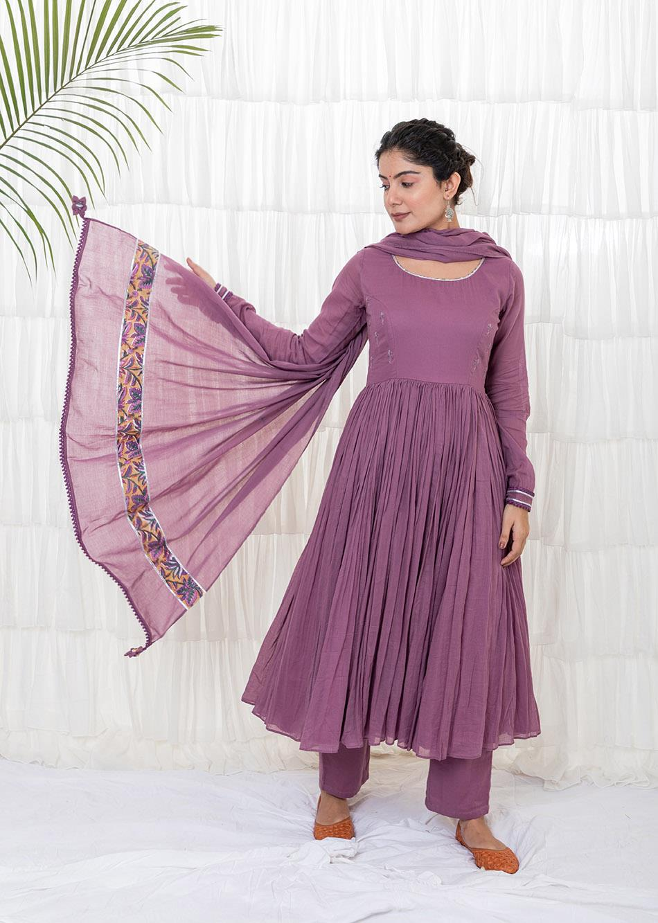 Grape wine Anarkali Set
