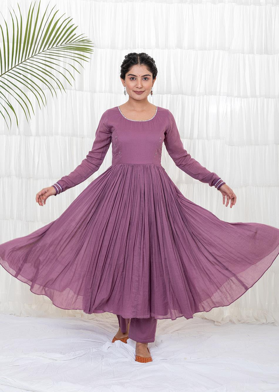 GRAPE WINE ANARKALI KURTA