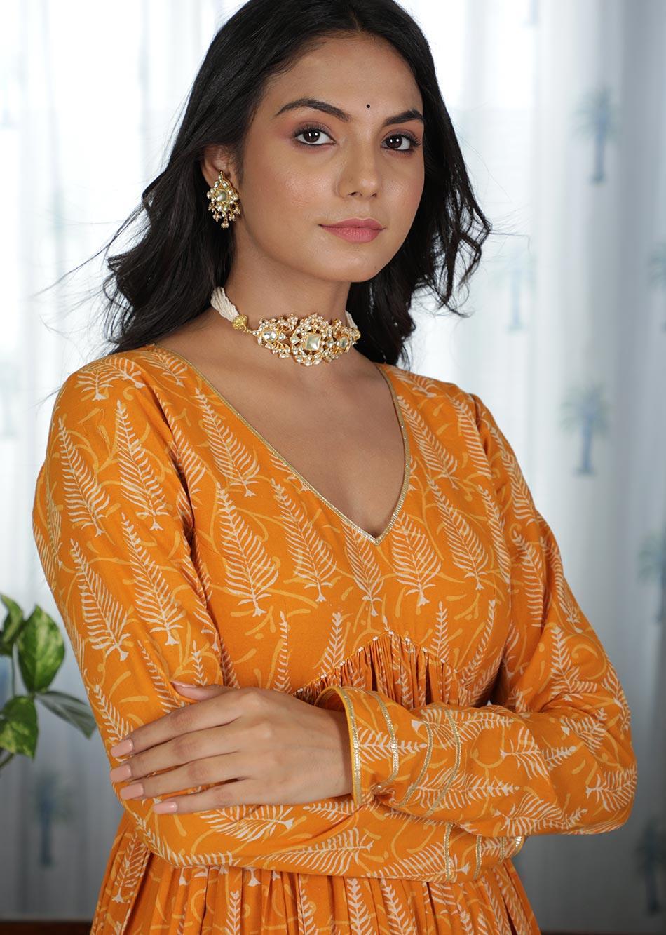 MOH Honey Gathered Anarkali Kurta (only kurta)