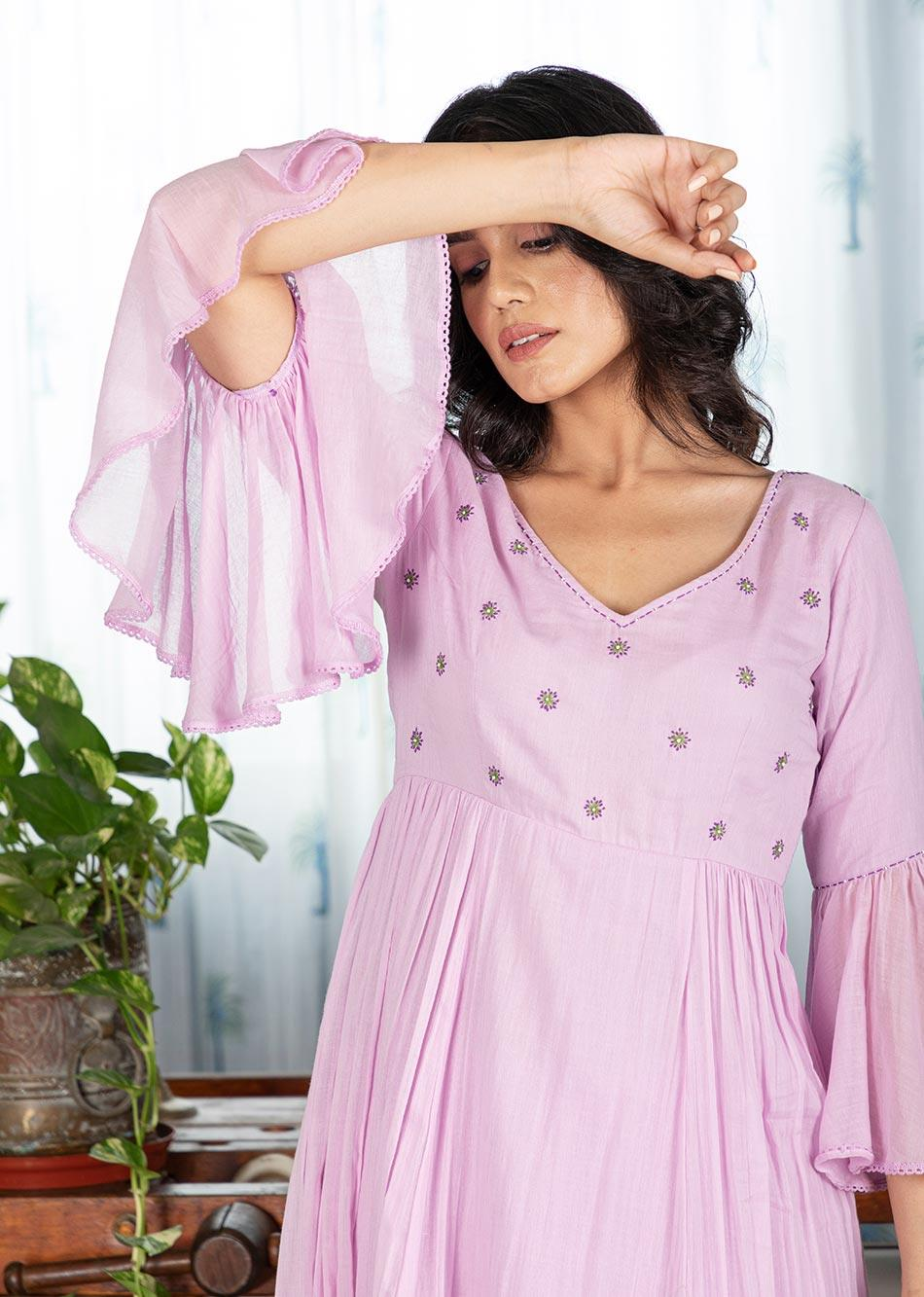 MOH Lilac Anarkali (only kurta)