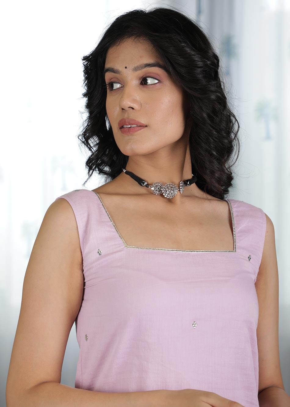 MOH Lilac Sleeveless Kurta (only kurta)