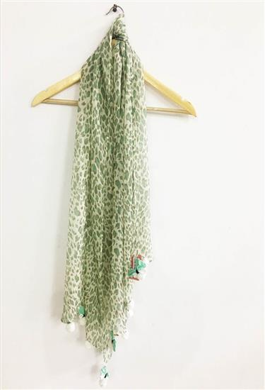 scarf - leopard print