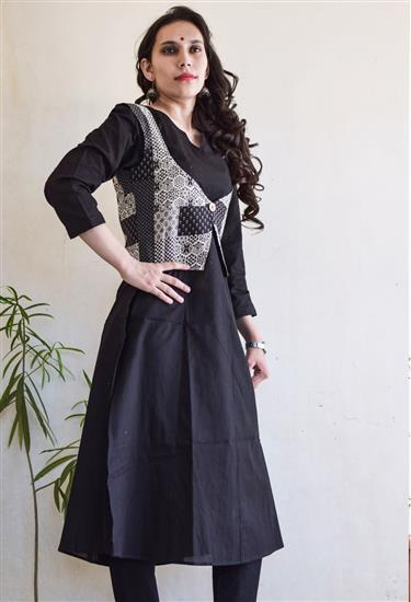black-kurta-with-koti